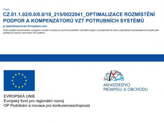 Optimalizace rozmístění podpor kompenzátorů VZT potrubních systémů