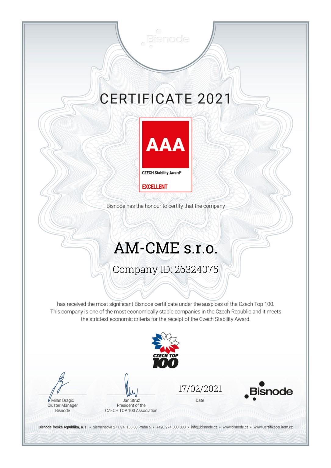 Stability Award 2021