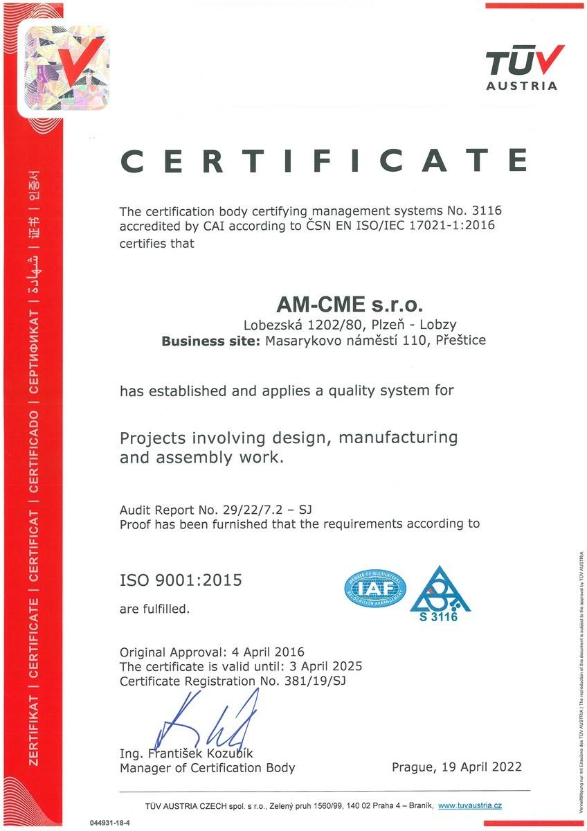 CSN EN ISO 9001-2015