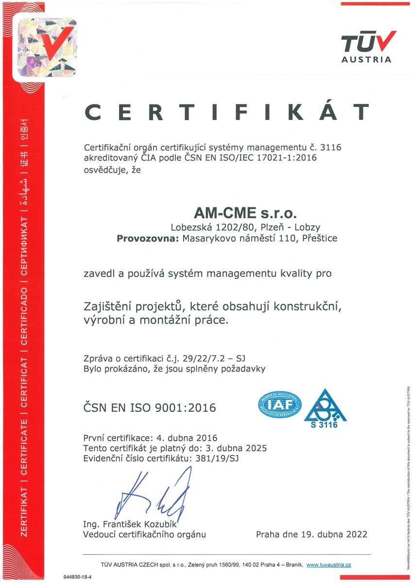 CSN EN ISO 9001-2016